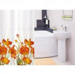 Штора для ванной комнаты TATKRAFT  FRENCH POPPIES 14046