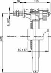 """Клапан для унитаза ALCAPLAST А16Р 3/8"""" бок. Металлическая резьба"""
