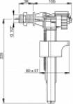 "Клапан для унитаза ALCAPLAST А15/2 1/2"" бок"