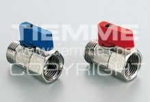 "Кран TIEMME SMALL 1/2"" 2940005 п/м пластиковый рычаг синий мини, никель"