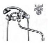 Смеситель D-Lin D146807 для ванны барашки (силумин)