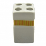Breeze 695731 Стакан для зубных щеток керамика оранжевая