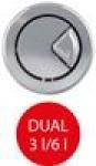 Колонка сливная А-08 ALCAPLAST 2-х кноп.(хром)