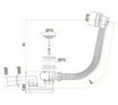 Перелив для ванны ALCAPLAST A-55КМ 60см полуавтомат