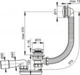 Перелив для ванны ALCAPLAST A-504КМ д/ван клик/клак