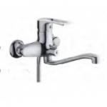 Смеситель D-Lin D146422 для ванны с фигурным носом 30см