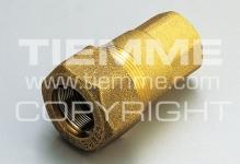 """Муфта 1/2"""" TIEMME 1500027 внутренняя резьба  для стальных труб латунь 1592"""