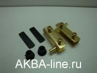 Шарнир для стекла металл золото (Ам) мал