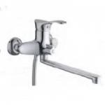 Смеситель D-Lin D146405-2 для ванны с прямым носом 30см (силумин)