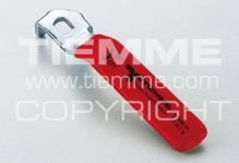 "Ручка-рычаг TIEMME 1 1/4"" 2090017 стальная плоская красная"